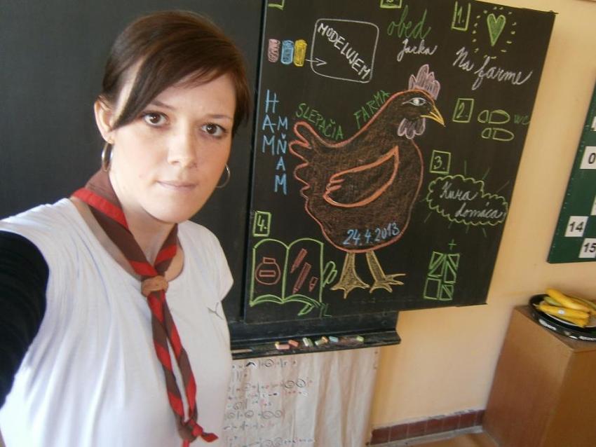 Eva Tomášová - Evka 1. skautský oddiel Veselé tváre Svit